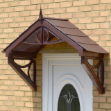 KoverTek Shaftesbury Canopy with Brown Frame and Brown Roof