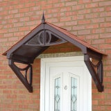 KoverTek Shaftesbury Canopy with Brown Frame and Terracotta Roof