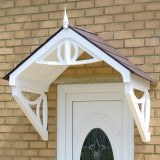 KoverTek Shaftesbury Canopy with White Frame and Brown Roof