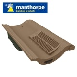 Manthorpe Single Pantile Roof Vent - Brown
