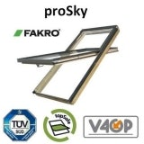 Fakro FYP-V P2/09 proSky Window 94cm x 140cm High Pivot - Pine Finish