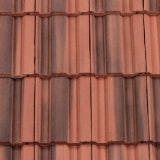 Redland 50 Double Roman Left Hand Cloaked Verge Tile - Farmhouse Red