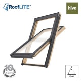 RoofLITE HIVE Centre Pivot Pine Roof Window - 66cm x 118cm