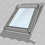 VELUX Mini Dormer EAW FK08 6000 Low Pitch Insulated Flashing Solution