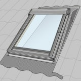 VELUX Mini Dormer EAW MK04 6000 Low Pitch Insulated Flashing Solution