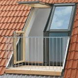 VELUX Twin Roof Terrace R/H for 8mm Slate GEL M08 SE0L223 158 x 245cm