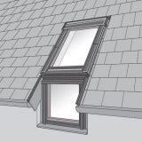 VELUX EFL SK10 0012 Single Vertical Element Slate Flashing 114cm x 160cm