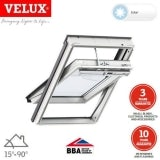 VELUX GGU FK04 006030 White Centre Pivot Solar INTEGRA Window 66x98cm