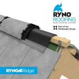 Ryno Roofing Ridge Vent Roll 6m Dry-Fix Ridge Kit - Anthracite Grey
