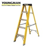 Youngman 5 Tread Swingback S400 GRP Trade Step Ladder - BS EN 131