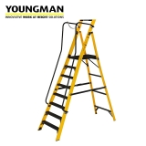 Youngman 8 Tread Megastep Ladder with Handrails - EN 131