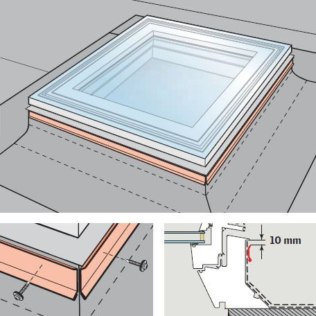 VELUX Flat Roof Window Opaque Fixed Dome and Kerb - 1000mm x 1500mm